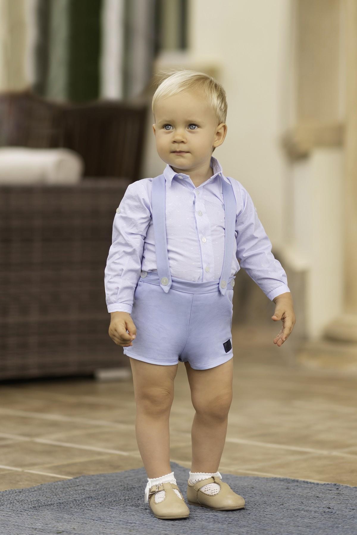 Conjunto camisa manga corta y pantalón